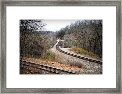 Train Tracks Across The New River - Radford Virginia Framed Print