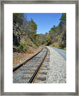 Train Tracks Framed Print by Brendan Reals