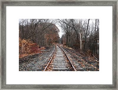 Train Tracks Framed Print by John Rizzuto