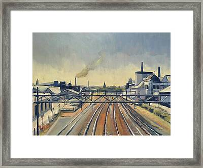 Train Tracks Maastricht Framed Print
