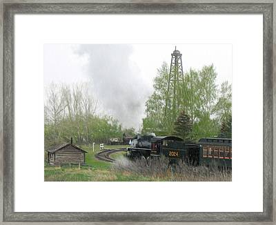 Train Travel Into The Past Framed Print