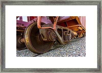 Train Truck Framed Print by TL  Mair