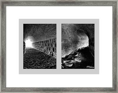 Train Tunnel Diptych Framed Print by Leland D Howard