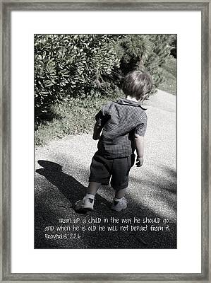 Train Up A Child Framed Print by Ethan Babler