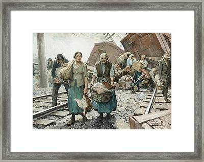 Train Wreck Framed Print by MotionAge Designs