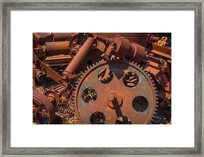 Train Yard Gears Framed Print by Garry Gay
