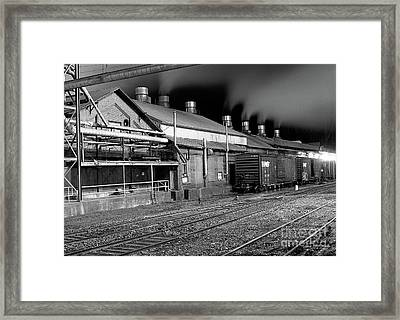 Train Yard Framed Print