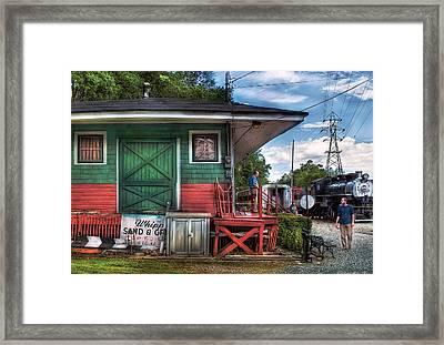 Train - Yard - The Train Station Framed Print by Mike Savad
