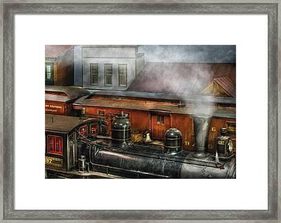 Train - Yard - The Train Yard II Framed Print by Mike Savad