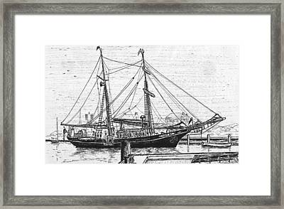 Training Ship Tabor Boy At Woods Hole Town Dock Framed Print