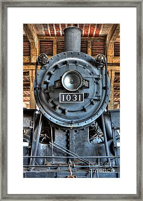 Trains - Steam Locomotive 1031 Framed Print by Dan Carmichael