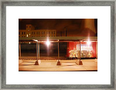 Trains At Night Framed Print by Craig Perry-Ollila