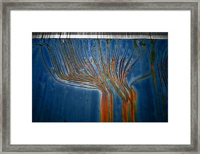 Trains Box Car Erosion Abstract Framed Print