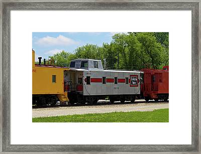 Trains Caboose 13572 Burlinton Route 02 Framed Print by Thomas Woolworth