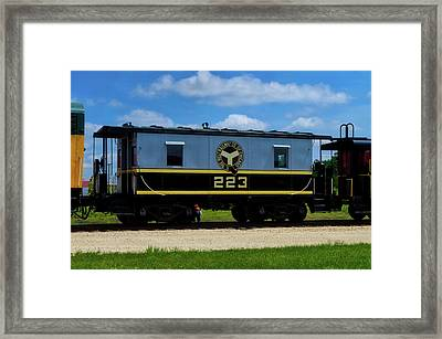 Trains Caboose 223 Beltway Of Chicago Framed Print by Thomas Woolworth