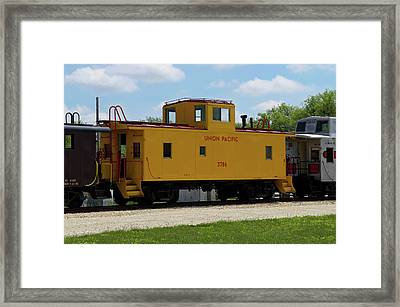 Trains Caboose 3786 Union Pacific Framed Print by Thomas Woolworth