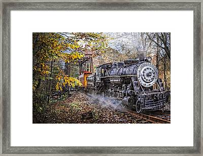 Train's Coming Framed Print by Debra and Dave Vanderlaan