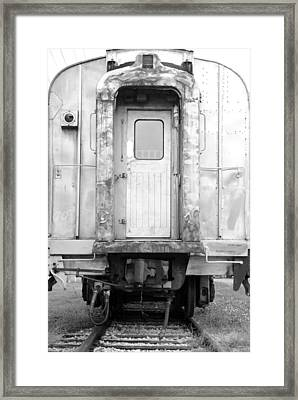 Trains End Framed Print by Jonathan Brown