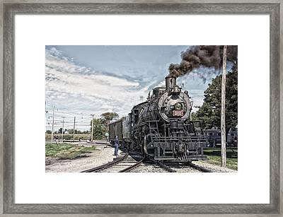 Trains Steam Engine 1630 Framed Print by Thomas Woolworth