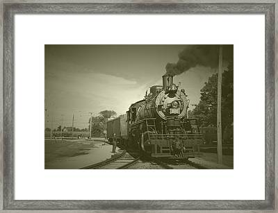 Trains Steam Engine 1630 Vintage Framed Print by Thomas Woolworth