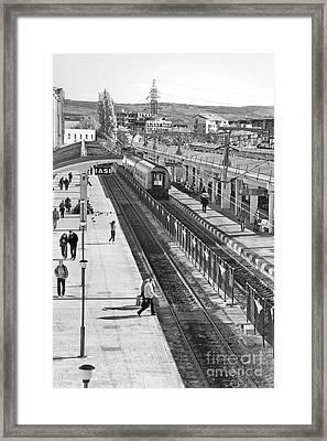 Trainstation Framed Print by Gabriela Insuratelu