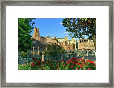 Trajan's Forum, Traiani, Roma, Italy Framed Print by Elenarts - Elena Duvernay photo