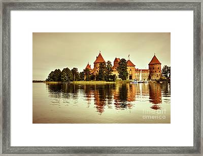 Trakai Castle  Framed Print by Rob Hawkins