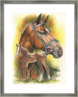 Framed Print featuring the mixed media Trakehner by Barbara Keith