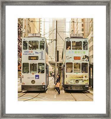 Tram Framed Print by Hyuntae Kim
