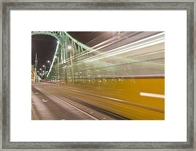 Tram In Budapest Framed Print by Kobby Dagan