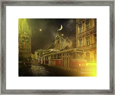 Tramatic - Prague Street Scene Framed Print
