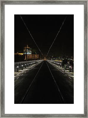 Tramlines Framed Print by Chris Fletcher
