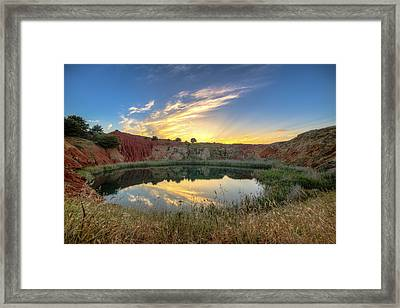 Tramonto Cava Bauxite Framed Print by Angelo Perrone