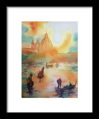 Tramonto Framed Prints