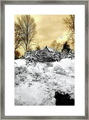 Tramonto Invernale Framed Print by Diana Angstadt