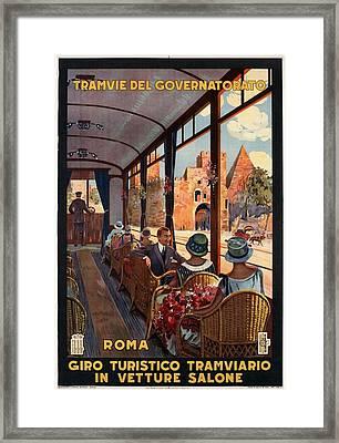 Tramvie Del Governatorato - Roma - Retro Travel Poster - Vintage Poster Framed Print