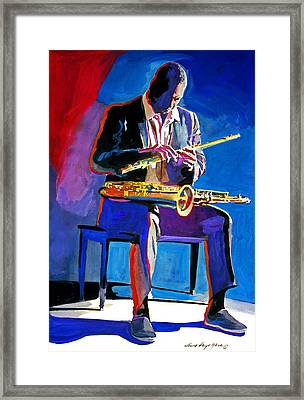 Trane - John Coltrane Framed Print by David Lloyd Glover