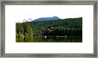 Tranquil Alice Lake Framed Print