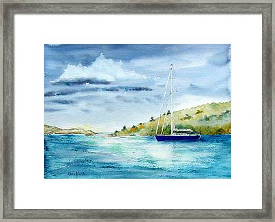 Tranquil Anchorage Framed Print
