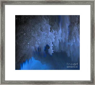 Tranquil Celestial Blue Design Framed Print by Rebecca Lemke