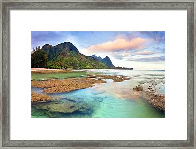 Tranquil Dawn Hawaii Framed Print by Monica and Michael Sweet