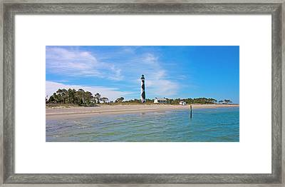 Tranquil Day Cape Lookout Lighthouse 2 Framed Print by Betsy Knapp