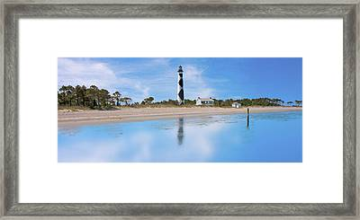 Tranquil Day Cape Lookout Lighthouse Framed Print by Betsy Knapp