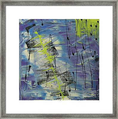 Framed Print featuring the painting Tranquil Dream I by Cathy Beharriell