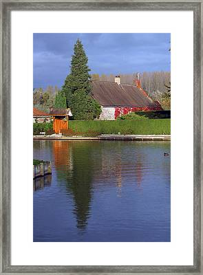 Tranquil Dusk Framed Print by Jez C Self