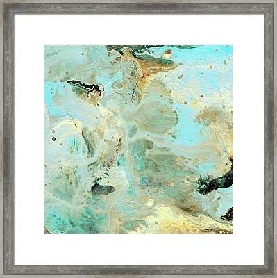 Tranquil Escape- Abstract Art By Linda Woods Framed Print