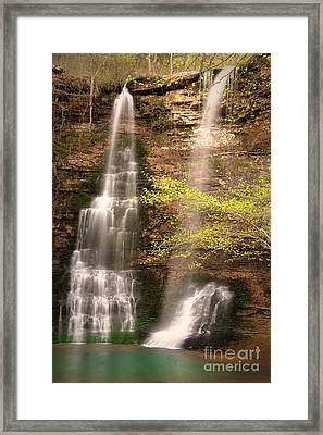 Tranquil Falls In Vertical Framed Print by Tamyra Ayles