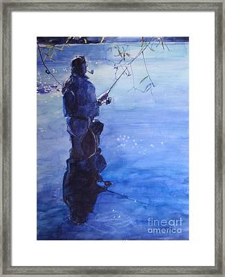 Tranquil Fishing Framed Print