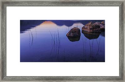 Tranquil In Blue   Framed Print