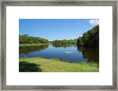 Framed Print featuring the photograph Tranquil Lake by Gary Wonning